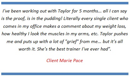personal training testimonials
